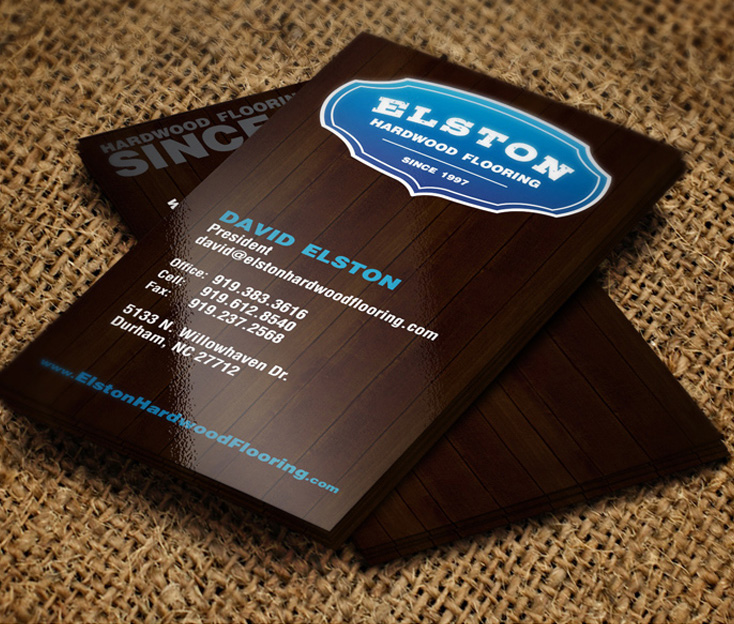 Elston Custom Hardwood Flooring Logo Design
