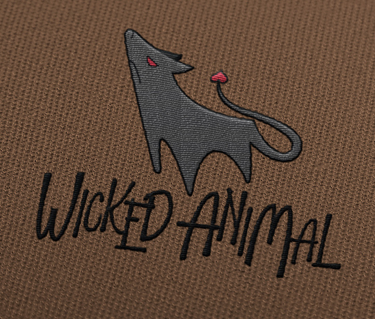 Wicked Animal Pet Bed Logo Design