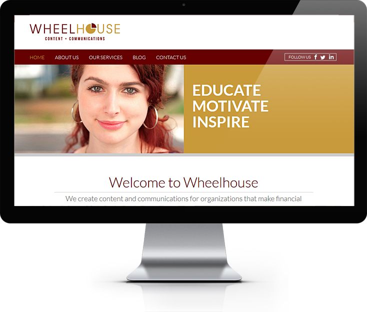 Wheelhouse Content + Communications Website Design