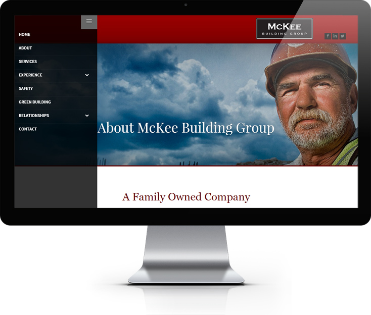 McKee Building Group Website Design