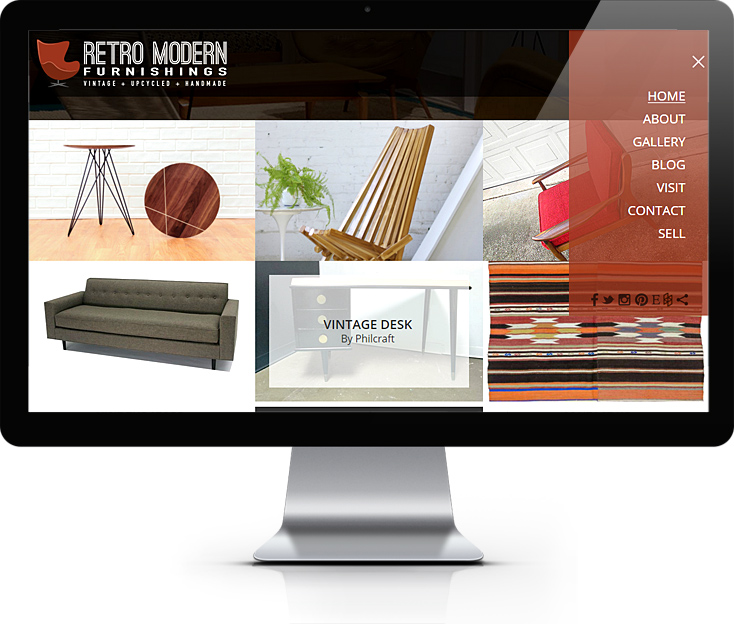 Retro Modern Furnishings Website Design
