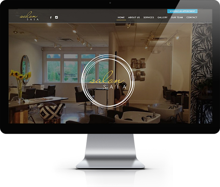 Salon Saia Website Design