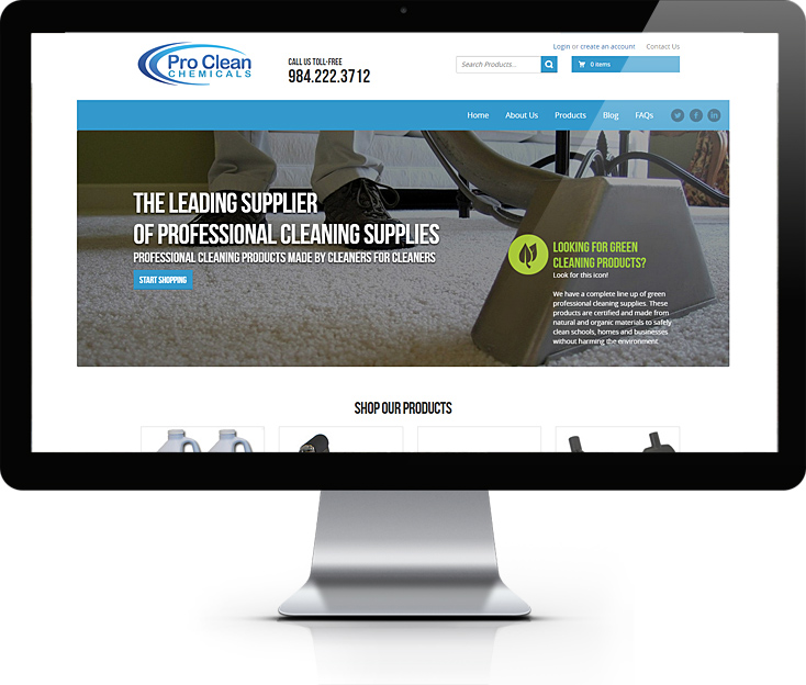 Proclean Chemicals Website Design