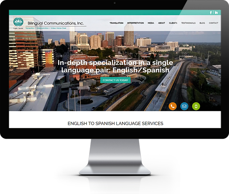 English to Spanish Language Services Website Design