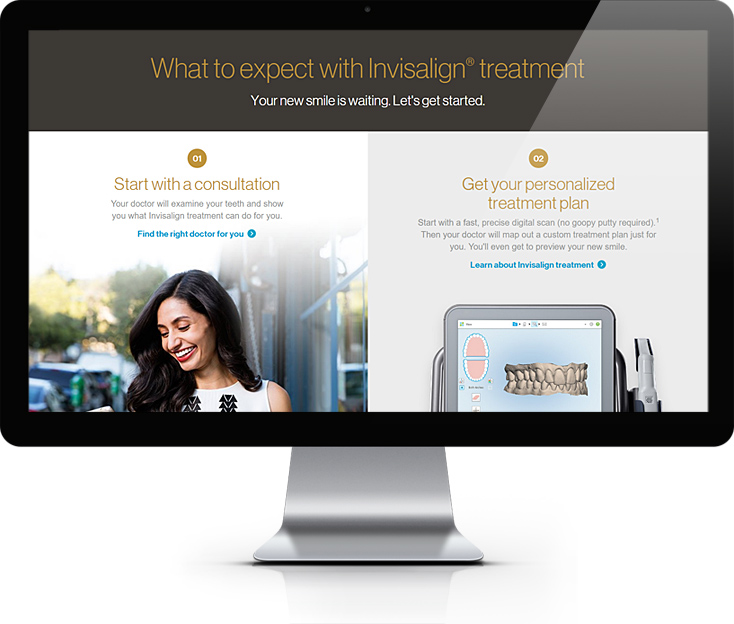 Invisalign Teeth Straightening Website Design
