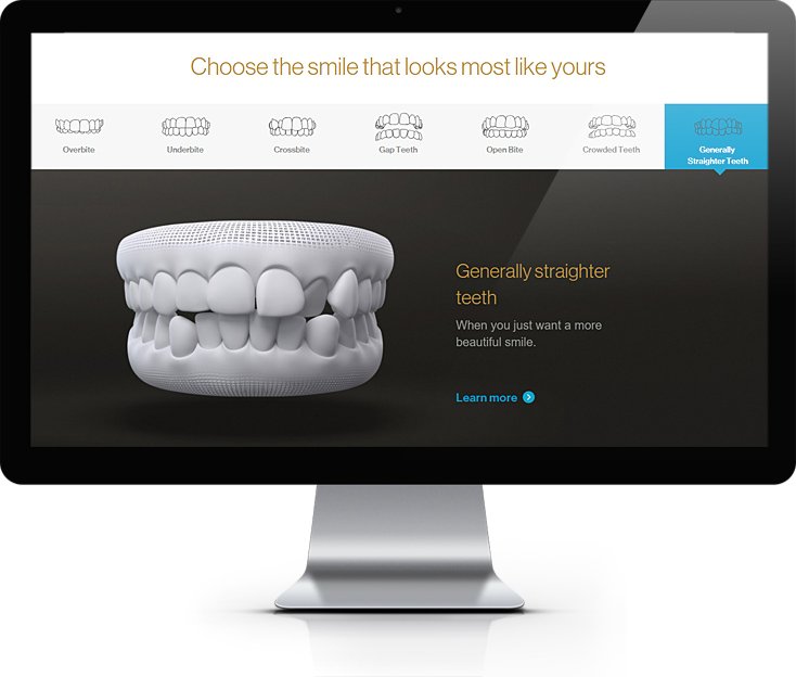 Invisalign Teeth Straightening Website Design