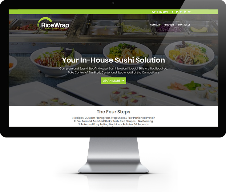 Website Design In-house Sushi Solution